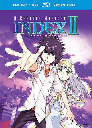 A Certain Magical Index II: Part One (Blu-ray/DVD, 2014, 4-Disc Set