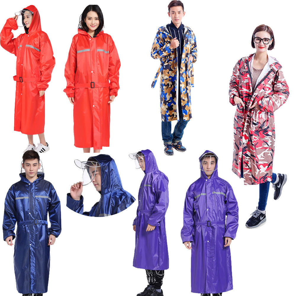 Hombres, para mujer, impermeable, impermeable a prueba de agua, impermeable, chaqueta impermeable con capucha, chaqueta larga con capucha Oxford
