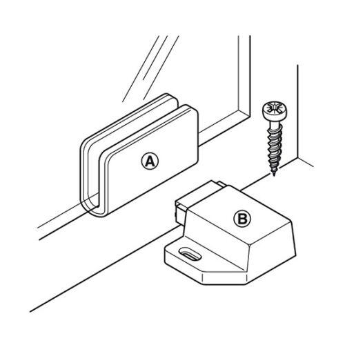 Unique Push To Open magnétique porte tiroir armoire latch catch Touch Armoire