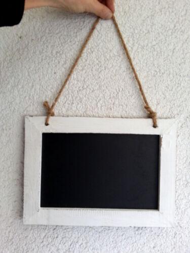 Tableau Craie Tableau Shabby Design 31x25 cm blanc//noir sisalband
