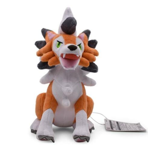 "Pokemon Lycanroc Plush Soft Toy 10/"" Stuffed Animal Doll Cute Gift"