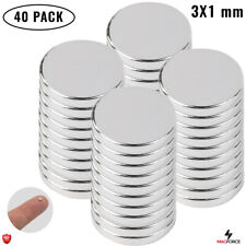 40 Pcs N35 Tiny Strong 3x1mm Neodymium Round Disc Small Magnets Proyects Diy