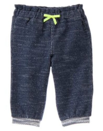 NWT Gymboree TINY TEAL French Terry Knit Elastic Waist Pants