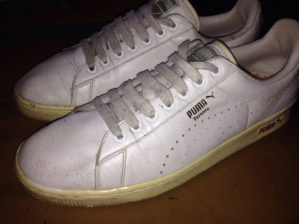Para de hombres De colección 80s Toronto Puma entrenadores de Para cuero blanco tamaño tenis c38ade