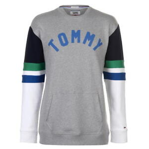 Mens Tommy Jeans Colourblock Sweatshirt - Relaxed Fit - Grey - Tommy Hilfiger