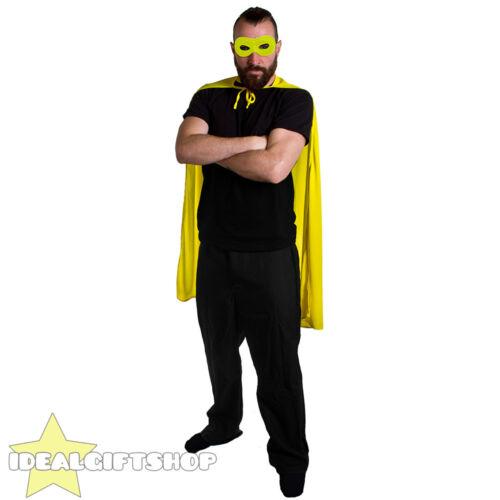 ADULTS SUPERHERO CAPE MASK FANCY DRESS COSTUME COMIC BOOK FILM HERO HALLOWEEN