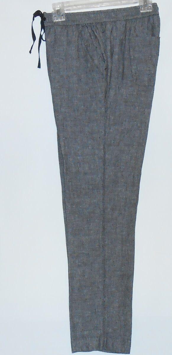 Jones New York Sport 100% Linen Elastic Drawstring Waist Pants Small (S) NWT