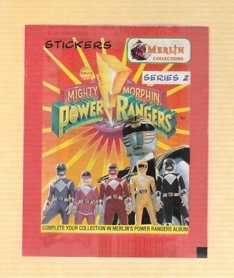 1995 Power Rangers Stickers Set Mighty Morphin Power Rangers