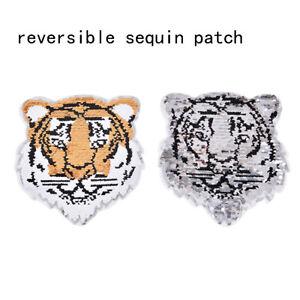 Tiger-reversible-Change-Farbe-Pailletten-naehen-auf-Patches-fuer-Kleidung-WRdd