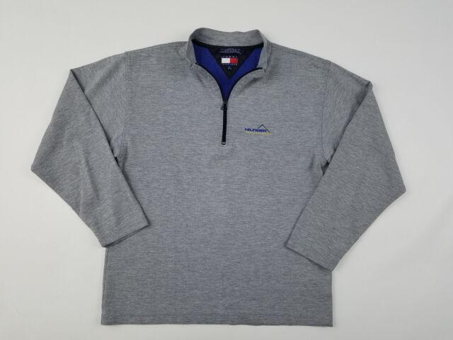 2ca6af50 Tommy Hilfiger Athletics 1/4 Zip Sweatshirt Men's Small Vintage 90s Base  Layer
