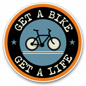 2-x-Vinyl-Stickers-7-5cm-Get-A-Bike-Mountainbike-Biker-Cycle-Cool-Gift-5103