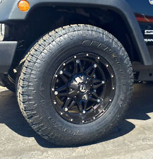 5 17 Fuel Hostage Black Wheels Jeep Wrangler Jk 33 Toyo At 2 Tires