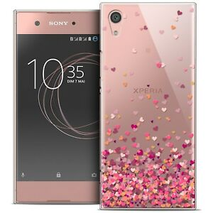 coque crystal rigide pour sony xperia xa1 5 souple sweetie heart flakes ebay. Black Bedroom Furniture Sets. Home Design Ideas