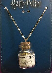 Harry potter hiccupping solution potion pendant necklace gold chain la foto se est cargando harry potter hiccupping solution potion pendant necklace gold aloadofball Choice Image