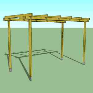 pergola in legno 4x2 pompeiana gazebo da giardino, prezzo ... - Gazebo In Legno Da Giardino Usato