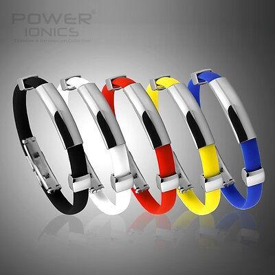 New Power Ionics Titanium Tourmaline Ion Plus Magnetic Bracelet Wristband PT012