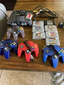 nintendo 64 n64 lot games console system bundle 4 Controllers And 7 Games