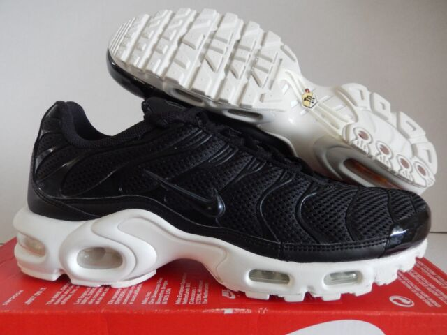 super popular 8243b 1290e Nike Air Max Plus BR Breathe Running Shoes Black White 898014-001 Mens 10.5