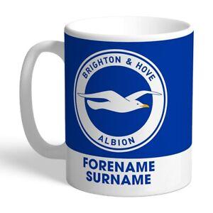 Brighton & Hove Albion F.c - Personalised Ceramic Mug (bold Crest)