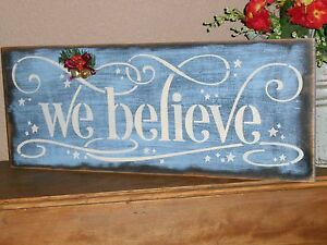 image is loading we believe christmas wood sign w holiday bells