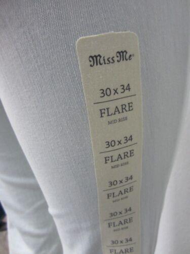 taille femmes Boho Nwt Miss Rare 30x34 Me Flare moyenne léger délavage pour WRFC0q