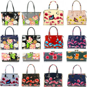 Women s Poppy FLower Patent Designer Butterfly Print Shoulder Bags ...