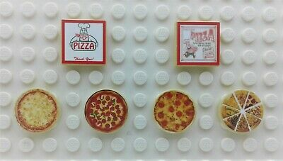 Lego 10 White 2x2 Round Tile W// Sunny Side Up Pattern City Friends Food Play