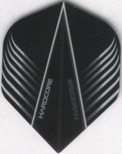 3 per set HARDCORE Black Carbon Wings Dart Flights