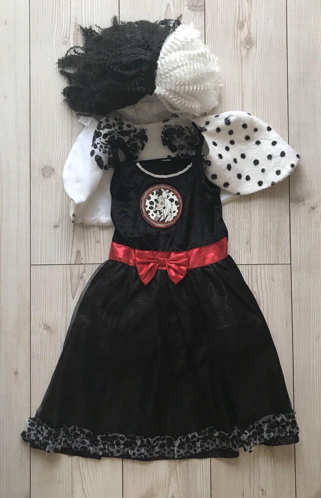 Disney 101 Dalmatians Cruella de Vil Dress-Up Costume Girls Book Day Age 9/10