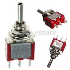 US 10PCS Red Pin On-Off-On Mini Small Toggle Switch Car Truck Dash SPDT US Fast