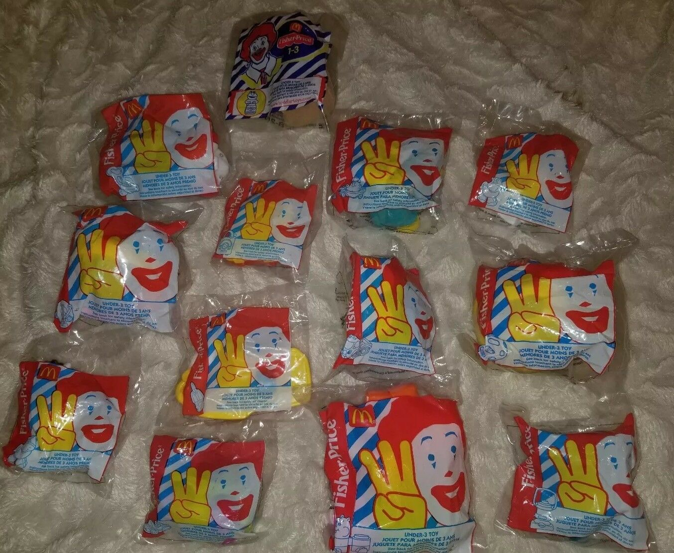 13 Lot 1999 McDonalds Fisher Price Happy Meal toys New Sealed under 3 toy