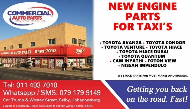 Engine Parts and Spares For Most Taxi Makes and Models For Sale
