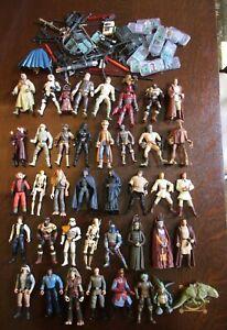 40-Star-Wars-Figures-amp-Accessories-Guns-Weapons-Blasters-Kenner-Hasbro-1990-039-s
