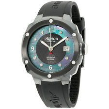 Alpina Black Dial Black Silicone Strap Men's Watch AL240MPBD3FBAEC6