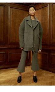 Stella Mcbiltney Felicity Cable stickade yllekläder grå storlek IT 36 US 0 -2 Ny  2395