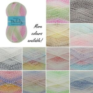 King-Cole-Melody-DK-Knitting-Yarn-Double-Knit-Craft-Wool-Crochet-100g-Ball