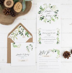 Details About Rustic Wedding Invitation Natural Vineyard