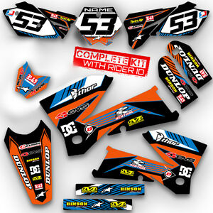 2002-2003-2004-2005-2006-2007-2008-SX-50-GRAPHICS-KIT-KTM-SX50-DECALS-ORNAGE