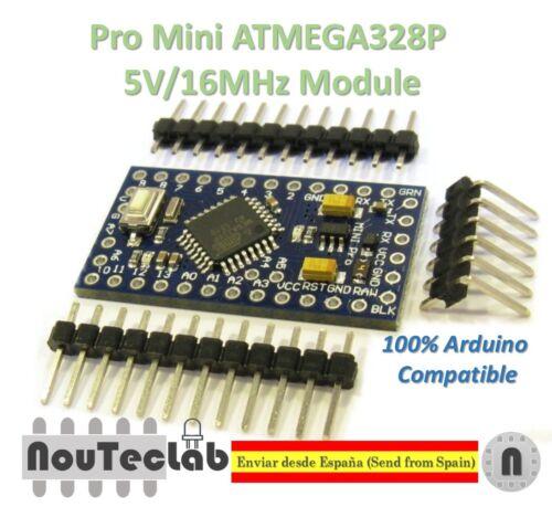 Pro Mini ATMEGA328P 5V//16MHz Module with Bootloader Pin Header for Arduino
