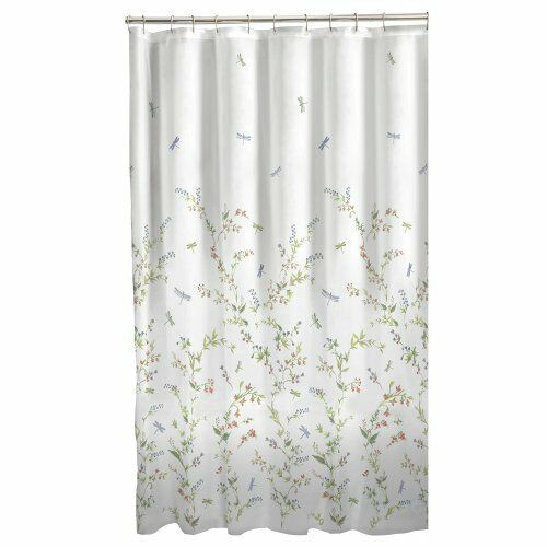 Maytex Dragonfly Garden Fabric Shower Curtain 70 X 72