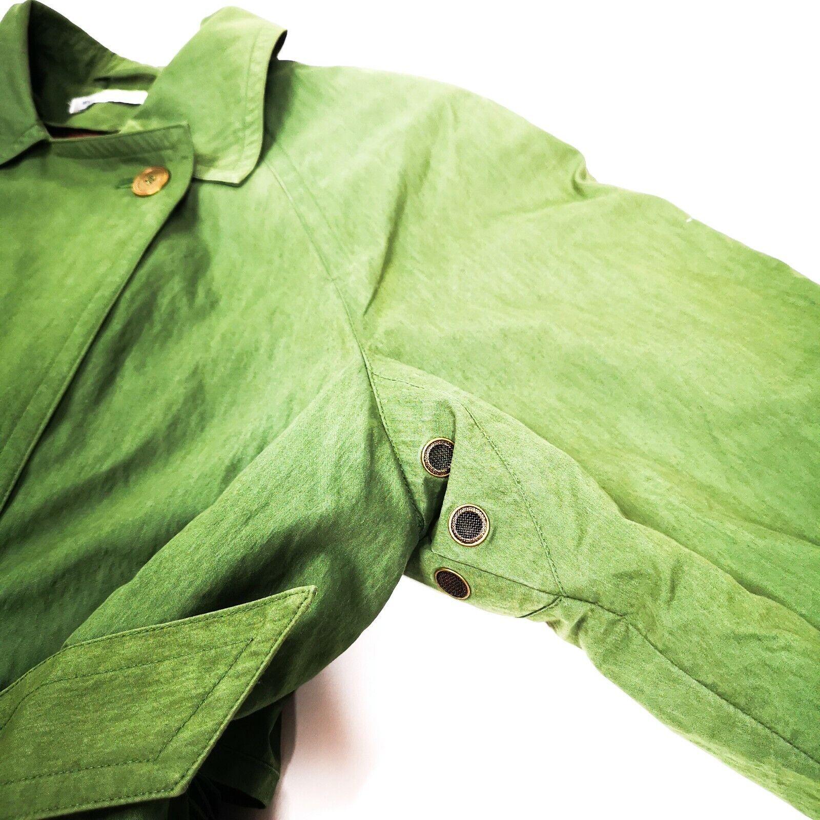 MISTY HARBOR Trench Coat Jacket 8 Olive Green - image 6