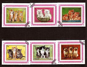SHARJAH-Cuadernos-con-sello-no-dentado-animales-de-compania-grupo-gatitos-E29