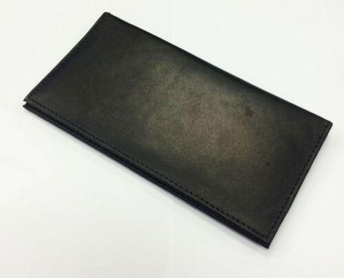 Black Genuine Leather Checkbook Cover Organizer Clutch Mens Wallet U.S Seller