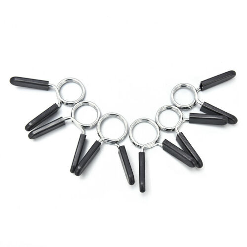 1Pair 25//28//30mm Barbell Clamp Spring Collar Clips Gym Weight Dumbbell Lock MAE