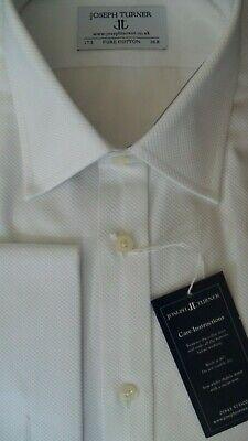 "Harvie /& Hudson 18/""//33.5/"" Two-Fold Cotton Marcella Dress Shirt RRP £89.50"