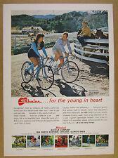 1972 Schwinn Super Sport Ten 10-Speed Bikes couple riding photo vintage print Ad