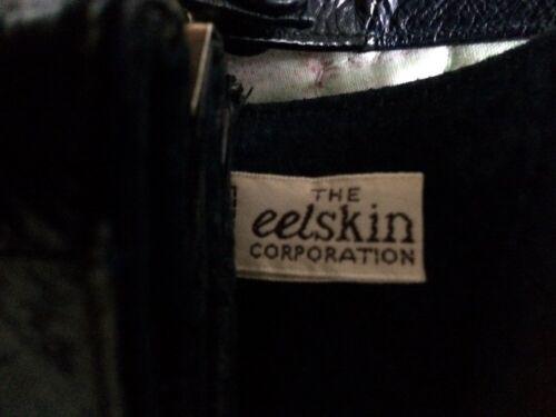 Sz Eelskin M vintage à main Corporation Luxueux Sac The cartable nuit Vgc bleu fcU1qF