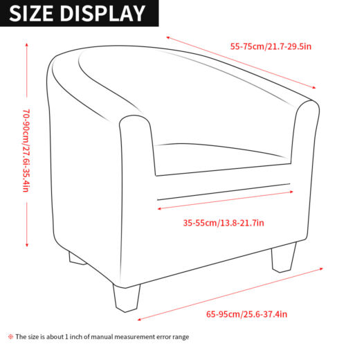 Tub Chair Covers Slipcovers Elastic Polyester Fabric Armchair Sofa Seat Cover