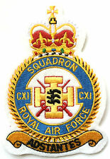 RAF 111 Squadron Official Crest Military Crested Embroidered Patch White