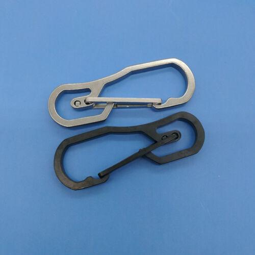 Outdoor Stainless Steel Buckle Carabiner Keychain Key Ring Clip Hook Simple CN